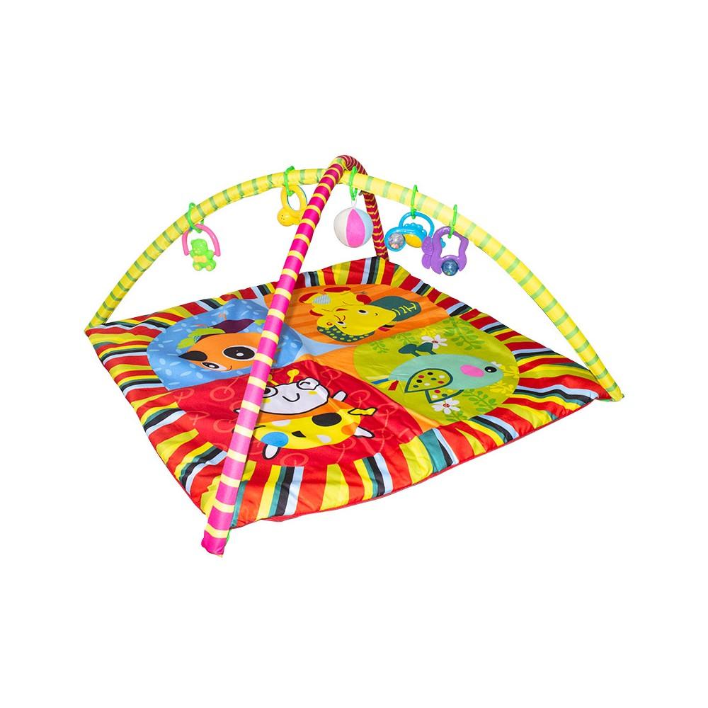 Tappeto attivita' con 5 sonaglini Tu Giochi 121418 gioco bambini 83x83 cm