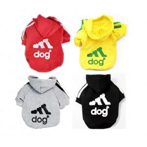 Felpa Adidog per cani di piccola taglia maglia colorata