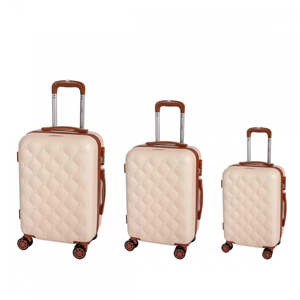 Coveri Collection Set 3 trolley viaggio ABS 6065013 BERLINO Beige e Marrone