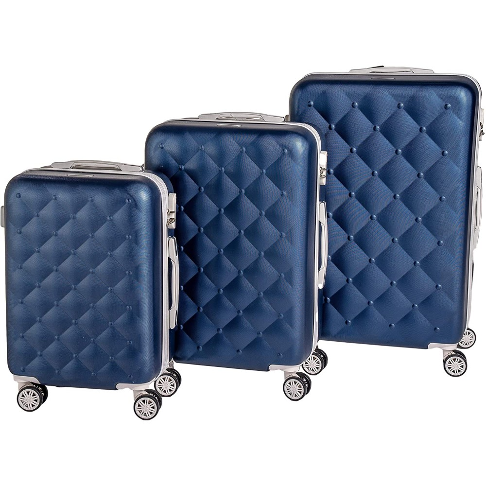 Coveri Collection Set 3 trolley viaggio ABS 6065015 BERLINO Blu e Bianco