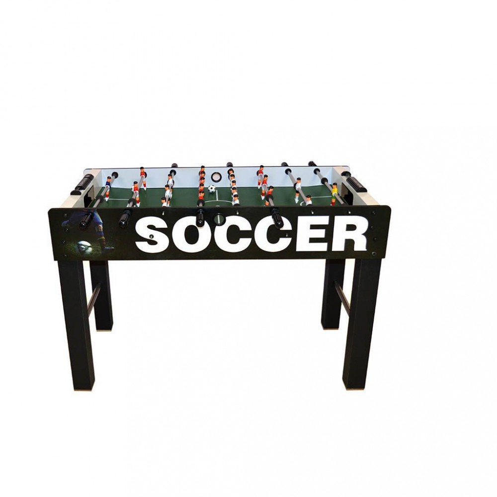 Calcio balilla 410837 Tavolo CALCETTO 4 stecche 126x12x63h cm gioco societa'
