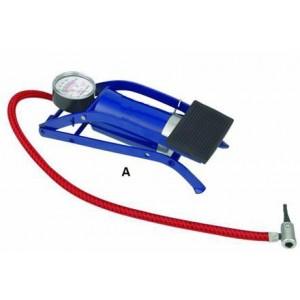 Image of Pompa a pedale gonfiatore ruota ruote gonfiaggio auto moto camper bici palla 8017248095660