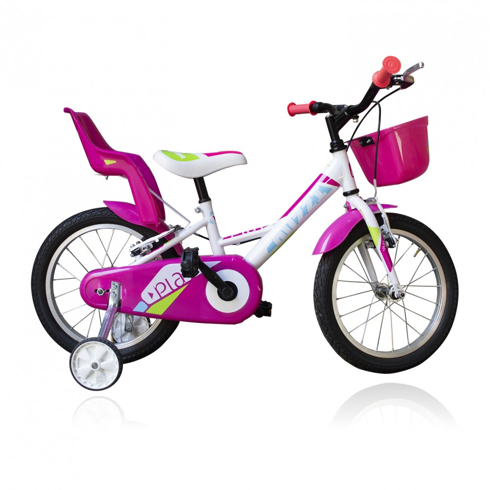 "Bicicletta TECNOBIKE NSR 16"" modello PLAY GIRL ART 765 con rotelle"
