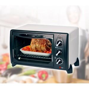 Forno elettrico ventilato capacità 24lt DCG MB9824N 1500 watt fornetto con termostato regolabile e 4 funzioni