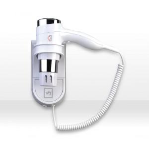 Phon asciugacapelli verticale da parete DCG HTW1028 con due livelli di temperatura e tasto cool