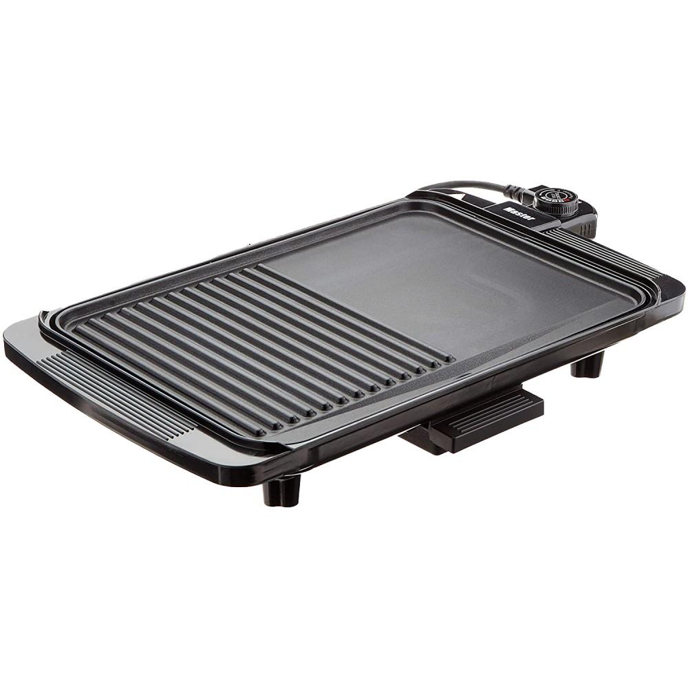 Master Grill elettrica EB1500 piastra 1500W anti-aderente removibile 50x30x8h cm