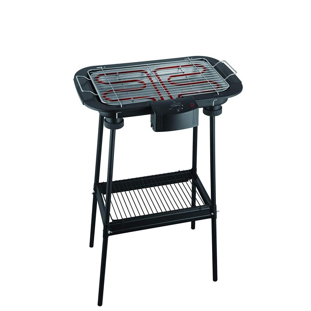 MASTER Barbecue EB02S elettrico 2000W Potenza 220 V - 50/60HZ Nero con gambe