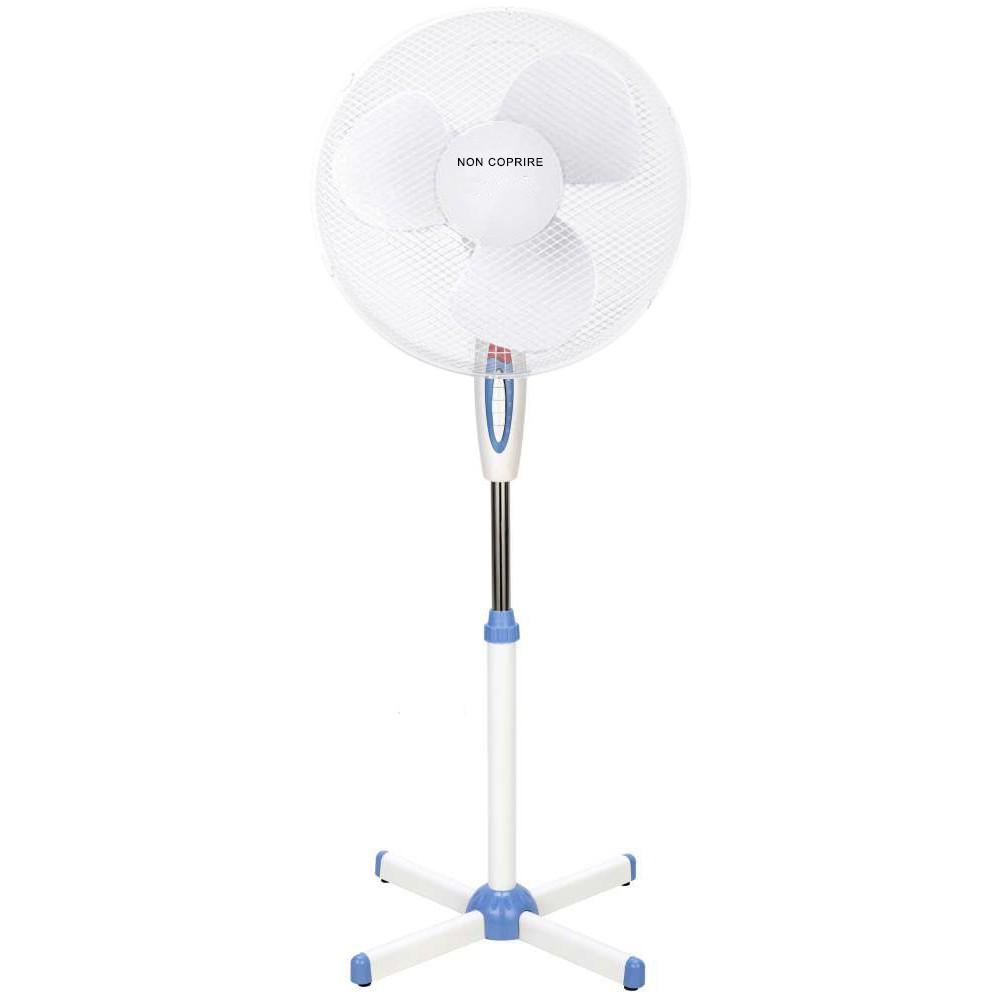 DGSUMMER Ventilatore piantana pala 40cm 3 velocità potenza 45W 130h cm con luce
