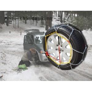 Catene da neve per auto KNS omologate e indispensabili da 20 a 130 varie misure per tutti i tipi di autovetture