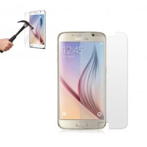 Image of Pellicola trasparente vetro temperato smartphone protegge schermo SAMSUNG S6 8029371943282