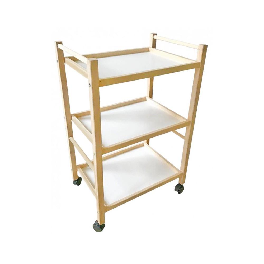 Carrello cucina legno di faggio art 536 Porta oggetti 3 livelli 28 x 39 x h65cm