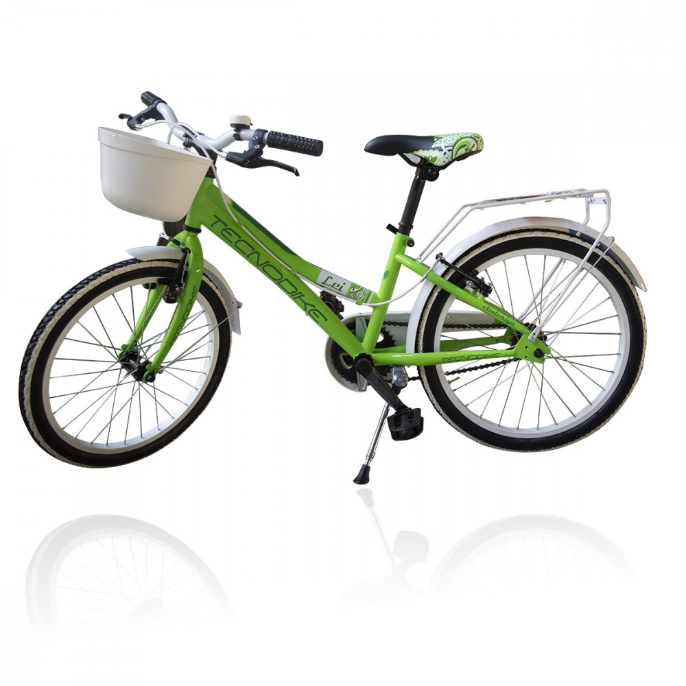 "Bicicletta  TECNOBIKE NSR 20"" modello LEI 20 KID CITY BIKE  ART 766 con rotelle"