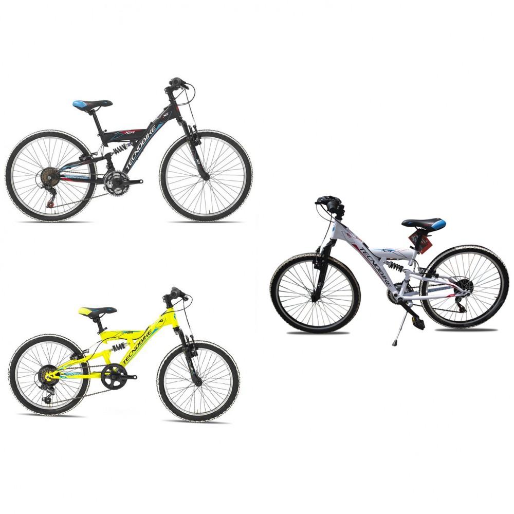 """Bicicletta TECNOBIKE NSR 24"""" modello X4 FULL MTB ART. 721 ammortizzata h34"""
