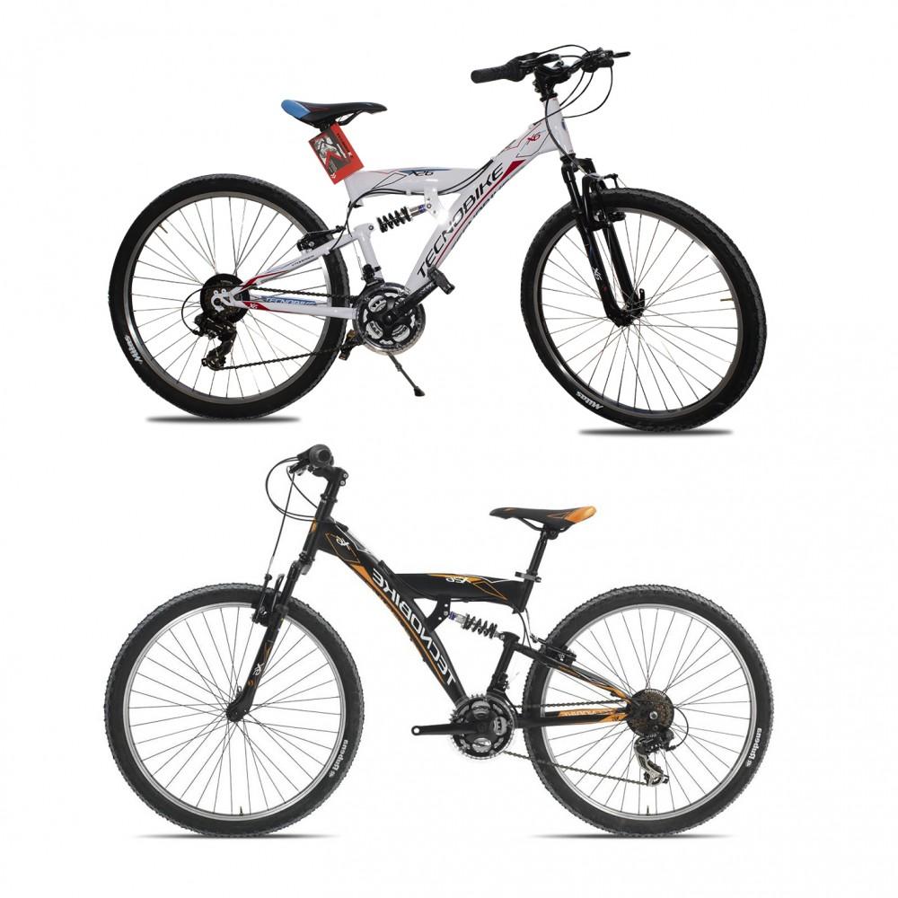 """Bicicletta TECNOBIKE NSR 26"""" modello X6 FULL MTB ART 722 Ammortizzata H52"""