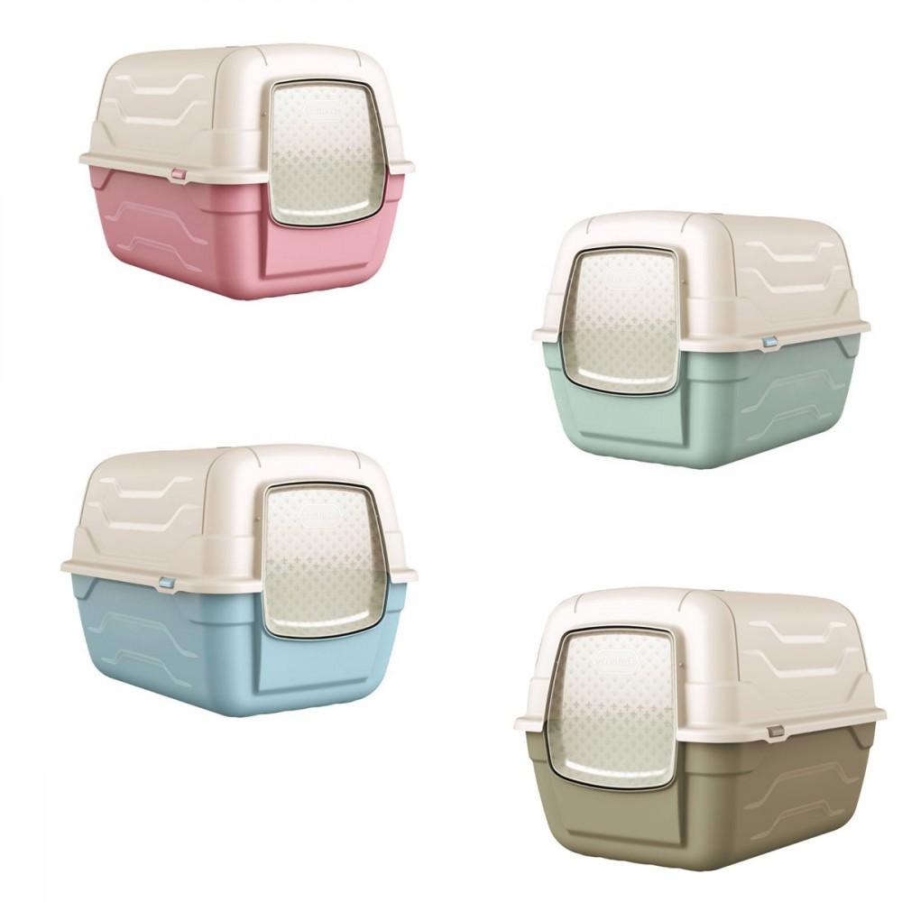 Roto Toilet Lettiera chiusa 10588 per gatti 47x35xh40 cm con filtro anti odore