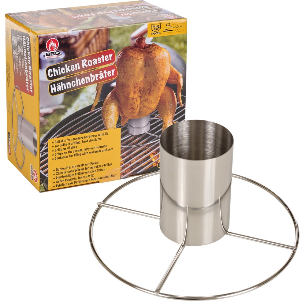 BBQCollection Girarrosto per polli verticale 563497 Chicken Roaster 20 x 10 cm