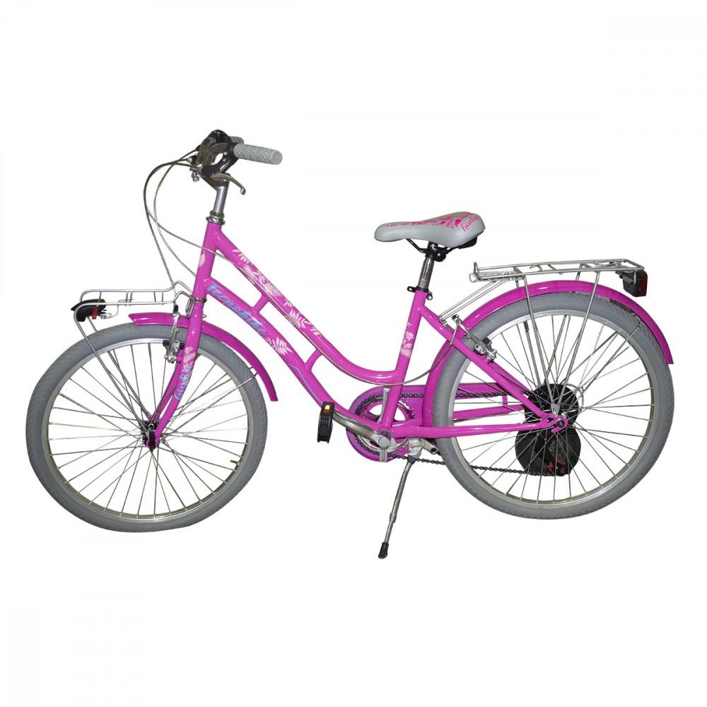 """Bicicletta TECNOBIKE NSR 24"""" modello GIULIA cambio SHIMANO ART 891 telaio steel"""