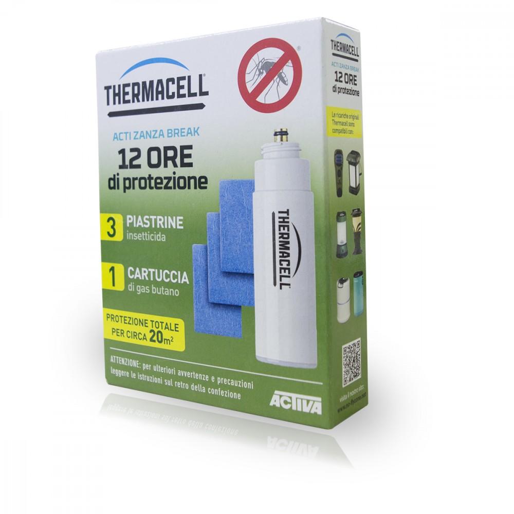 ThermaCELL 3 piastrine insetticida + 1 cartuccia 985110 protezione 12 ore