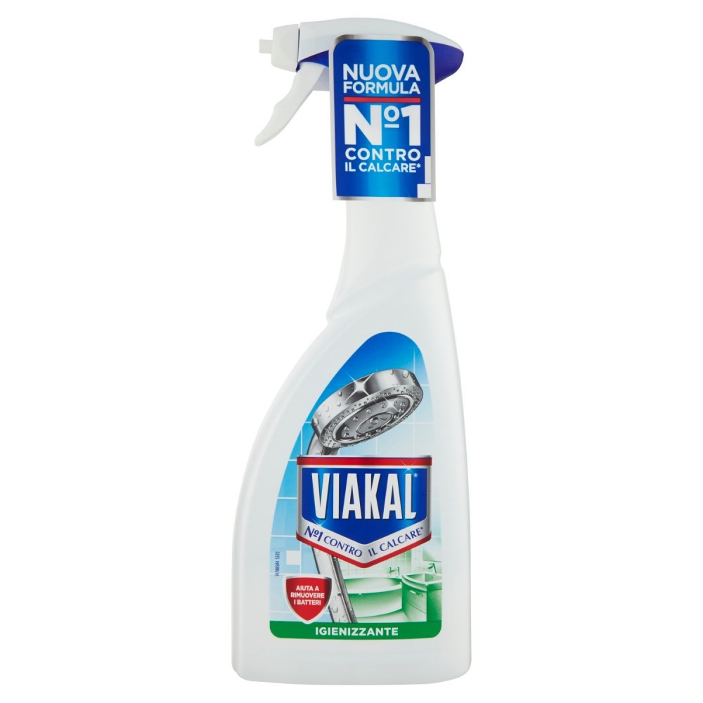 Viakal 575241 contro il calcare igienizzante 700ml spray aiuta contro i batteri