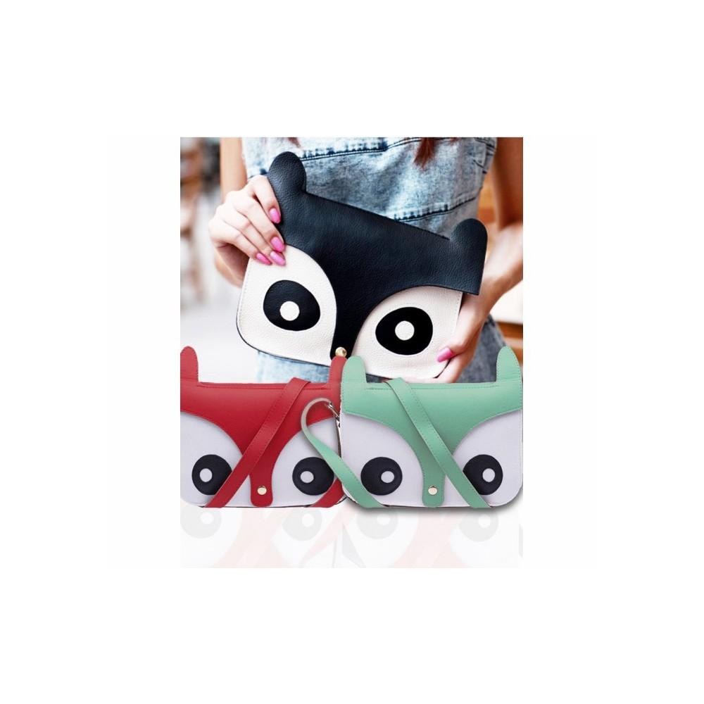 Borsa in ecopelle a forma di gufo OWL BAG pochette effetto 3D MWS AHEAD 24x17x6 cm