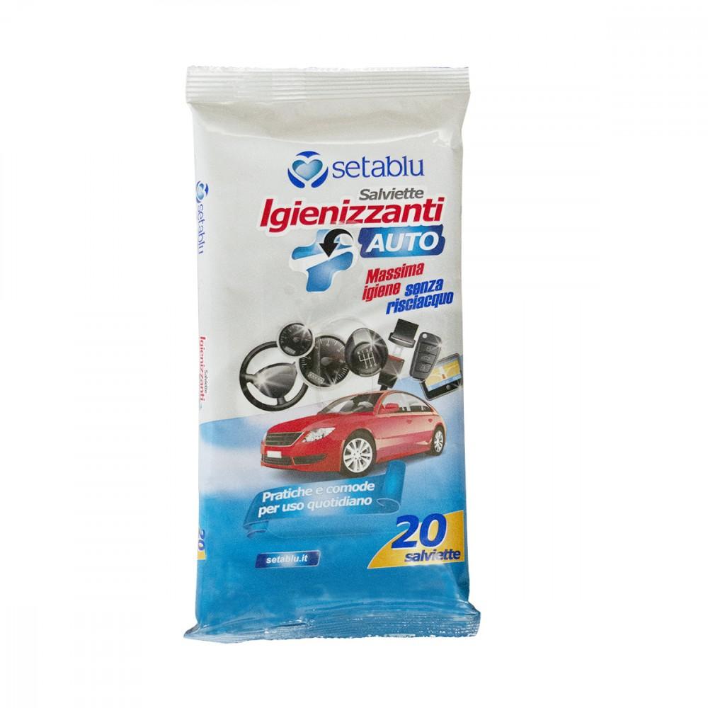 Setablu Salviette sanificante auto 592233 igiene senza risciacquo 20 salviettine