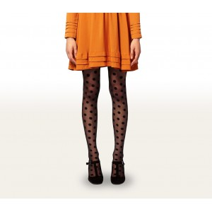 Collant donna calze fantasia a pois 20 DEN in taglia unica dots pattern pantyhose