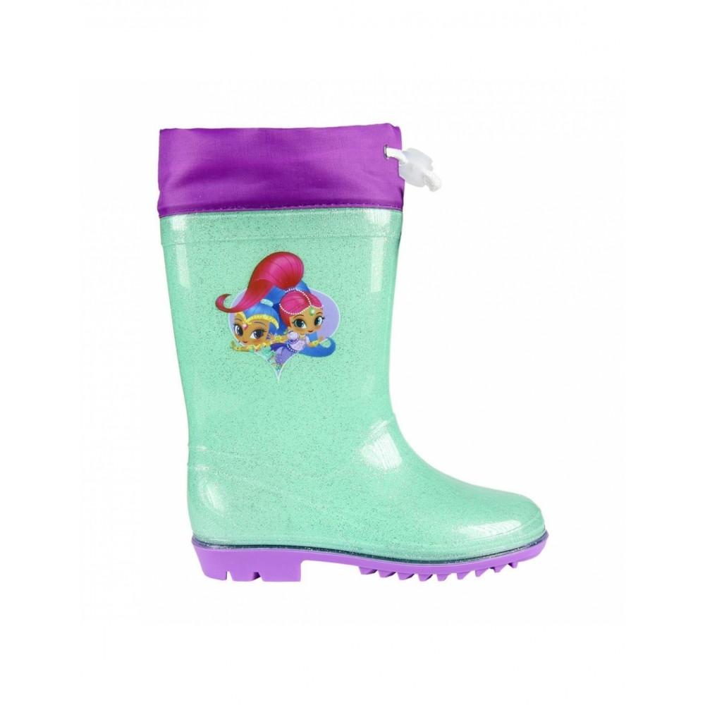Stivaletto bambina 23-3495 galosce pioggia di gomma Shimmer and Shine glitter