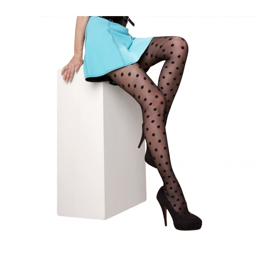 Collant donna calze fantasia a pois 20 DEN in taglia unica dots pattern PANTHYHOSE 1118