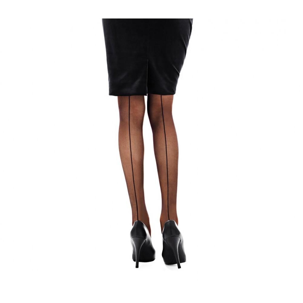 Collant donna calze con riga posteriore 20 DEN in taglia unica stile elegante e retrò 1116