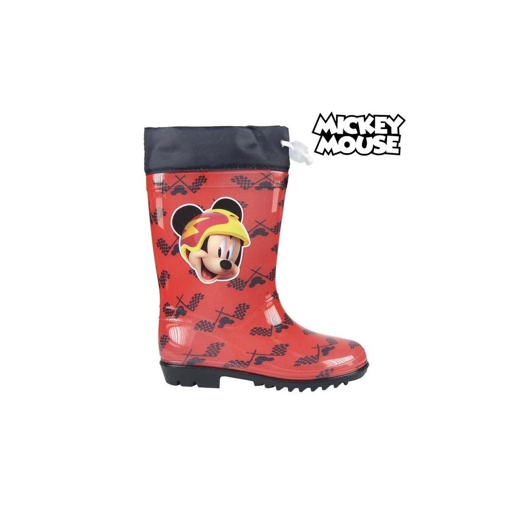 Stivaletto bambino 23-3486 galosce pioggia di gomma Topolino Rosso e nero Mickey