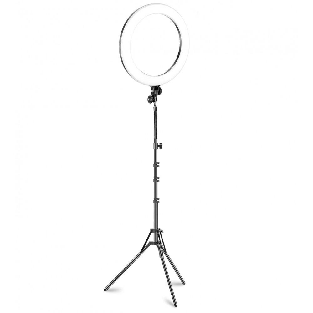 Lampada ad anello luce led 30 cm faro selfie con treppiedi 187141 potenziometro