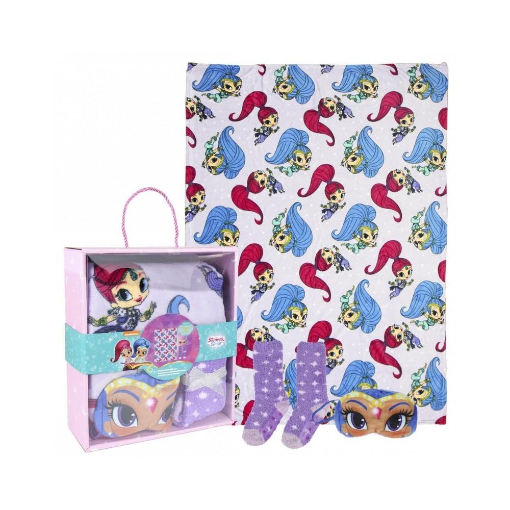Box regalo 22-3380 Coperta pile, benda per dormire e calze Shimmer e shine