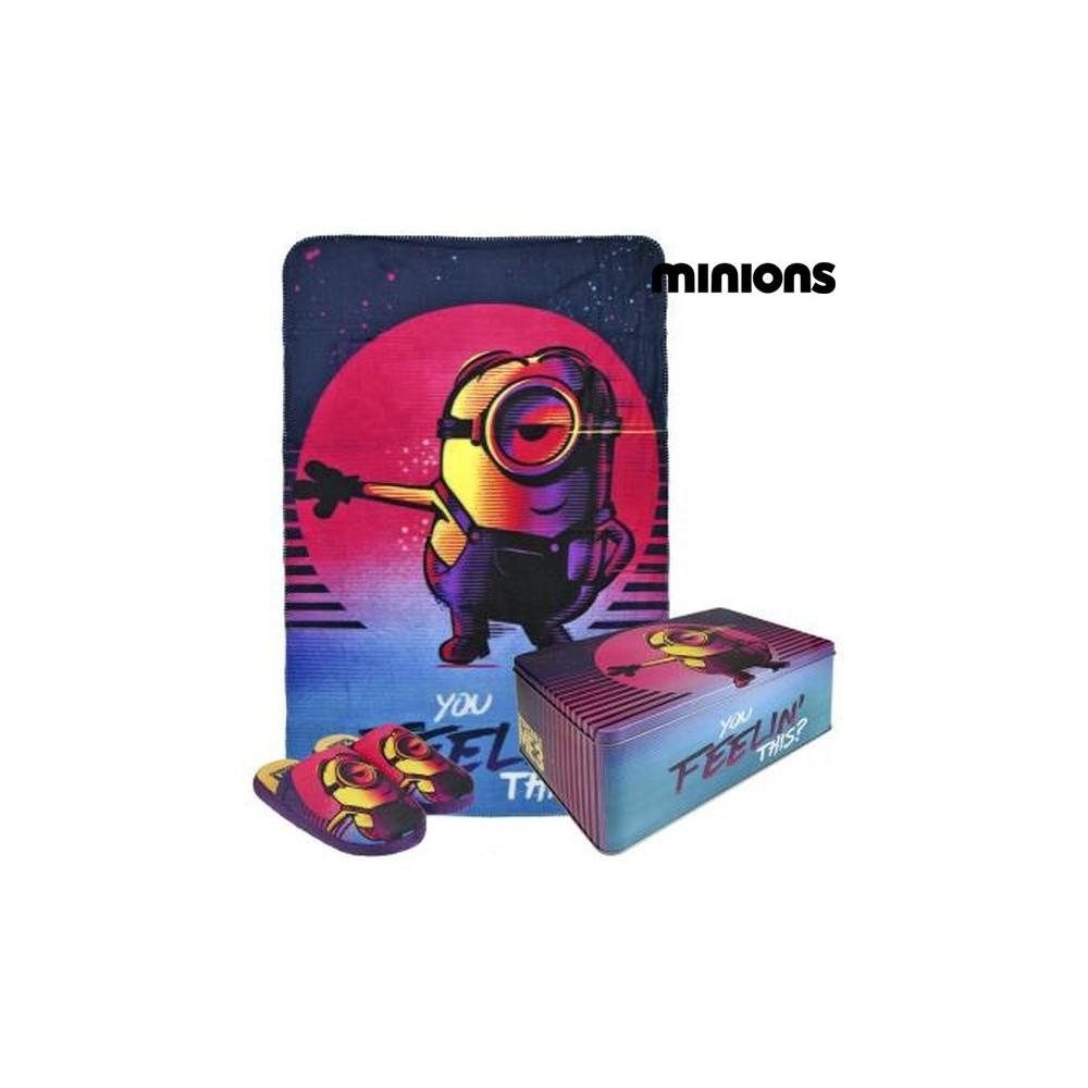 Box regalo alluminio MINIONS 25-796 con coperta pile morbido e pantofole