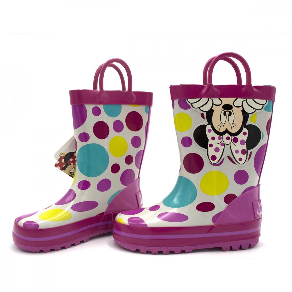 Stivaletto per bambina 23-2344 galosce pioggia di gomma con Minnie rosa a Pois