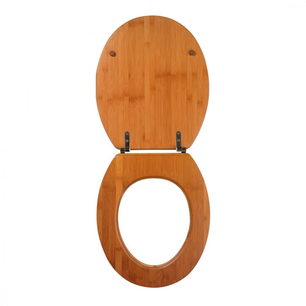 Sedile da bagno 600843 universale Color Noce in legno MDF 43x37 cm copri water