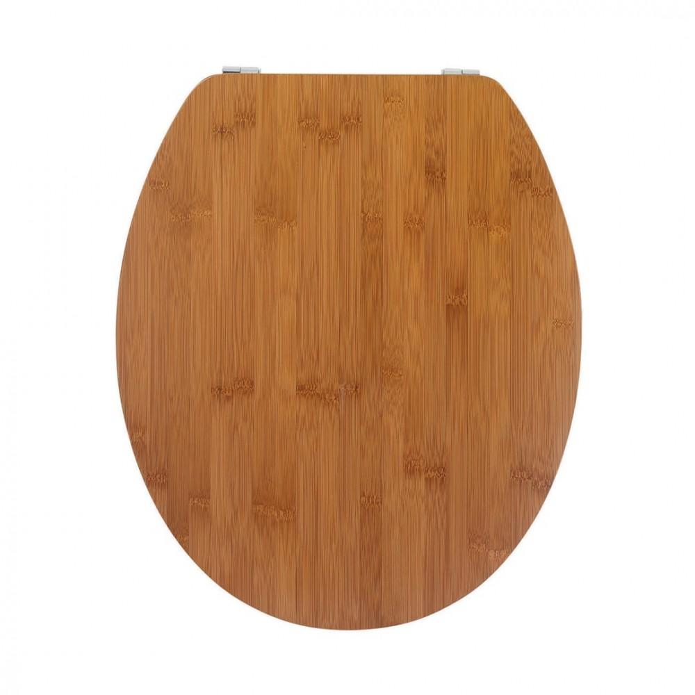 Sedile da bagno 00843 universale Color Noce in legno MDF 43x37 cm copri water