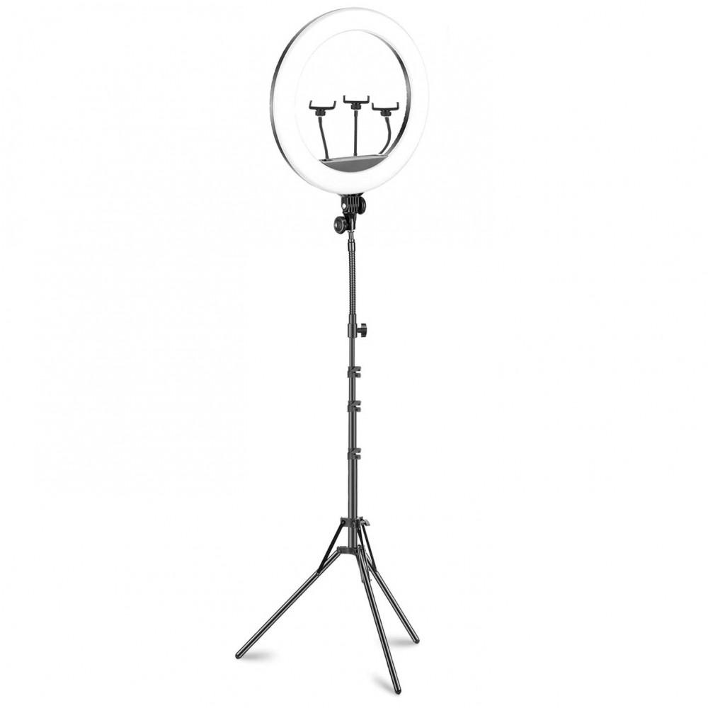 Lampada ad anello luce led 45 cm faro selfie con treppiedi 187165 potenziometro