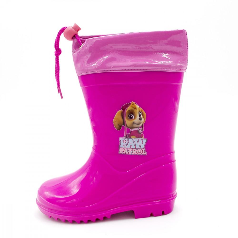 Stivaletto per bambina 23-2346 galosce pioggia di gomma con Paw Patrol Rosa