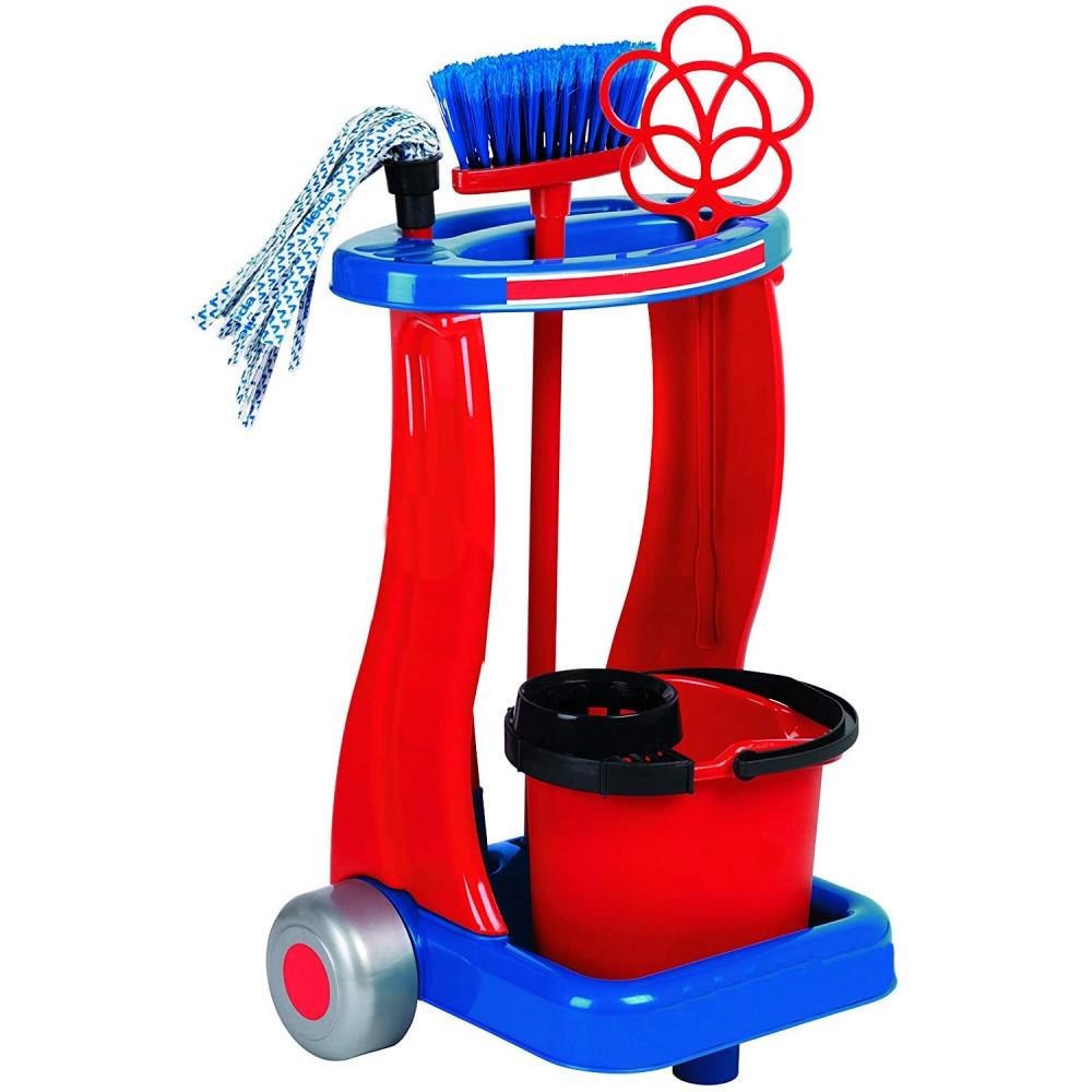 Trolley pulizie RILUX per bambini 414378 secchio mocio scopa battipanni paletta