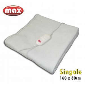 Scaldasonno singolo MAX scaldaletto 70 watt 1 piazza 160 x 80cm con telecomando a due livelli di temperatura selezionabili