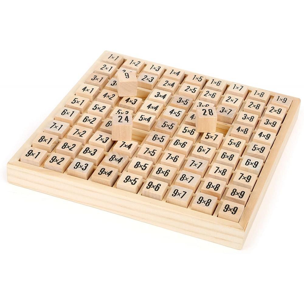 CIGIOKI Impara le tabelline 193532 Gioco legno bambini 17x17 cm moltiplicazione