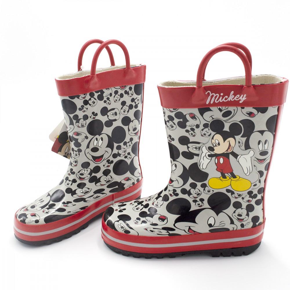 Stivaletto per bambino 23-2345 galosce pioggia di gomma Topolino Mickey Rosso