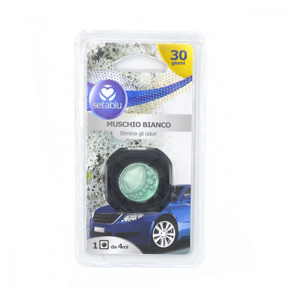 Setablu deodorante per auto 591748 Muschio bianco elimina gli odori 4ml