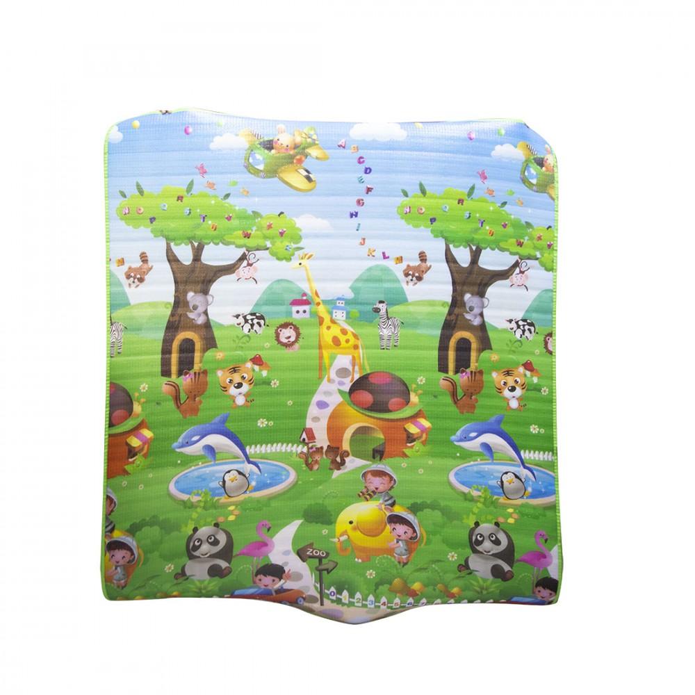 Maxi tappeto 2 in 1 disegnato su 2 lati 013272 tappetone soffice 150x180 cm