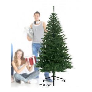 Albero di Natale artificiale 210 cm con 780 punte rami folti e foglie realistiche