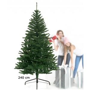 Albero di Natale artificiale 240 cm con 975 punte rami folti e foglie realistiche
