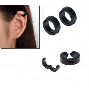 Image of Kit 2 paia di orecchini chiusura a clip senza buchi unisex due colori 8015543323358