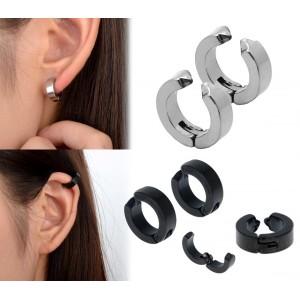 Kit 2 paia di orecchini a clip senza buchi disponibili in due colori