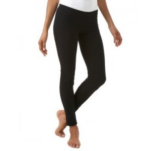 Leggings nero panta collant microfibra modellante