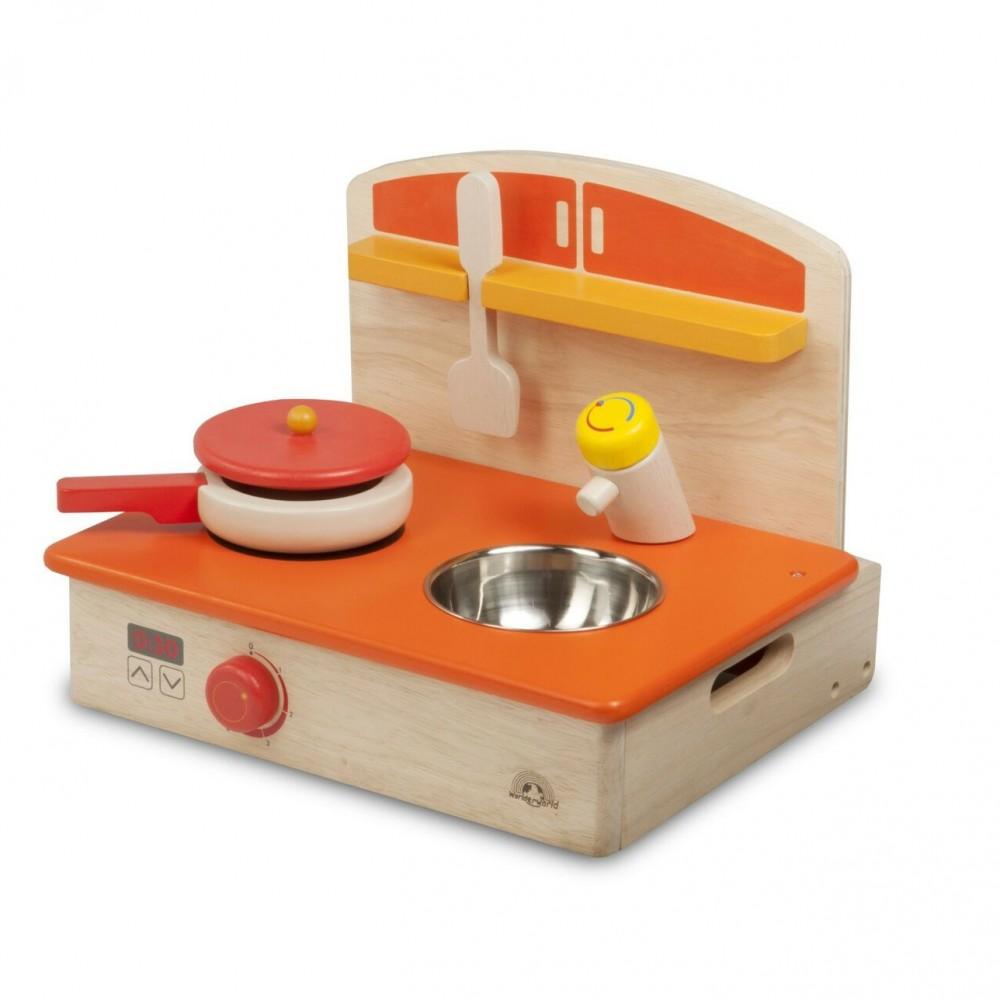Cucina realistica portatile per bambini 145571 con padella e paletta